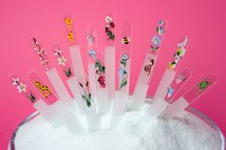 Handpainted glass nail files